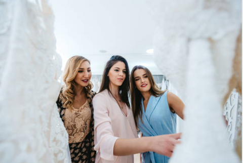 Finding the perfect dress with your family and closest friends