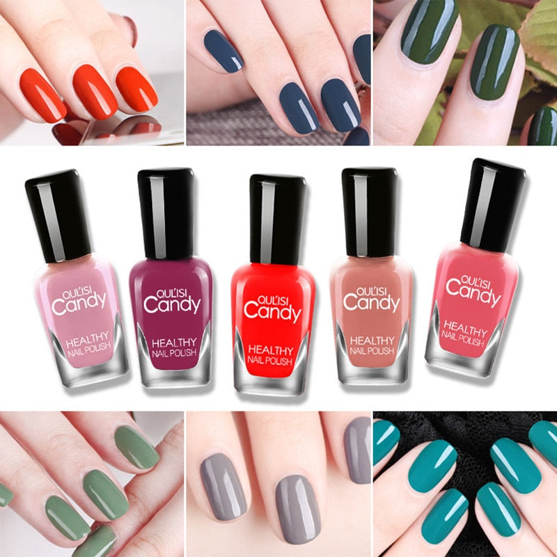 8ml Matte nail polish Pretty Candy Nude Color Peel Off ...