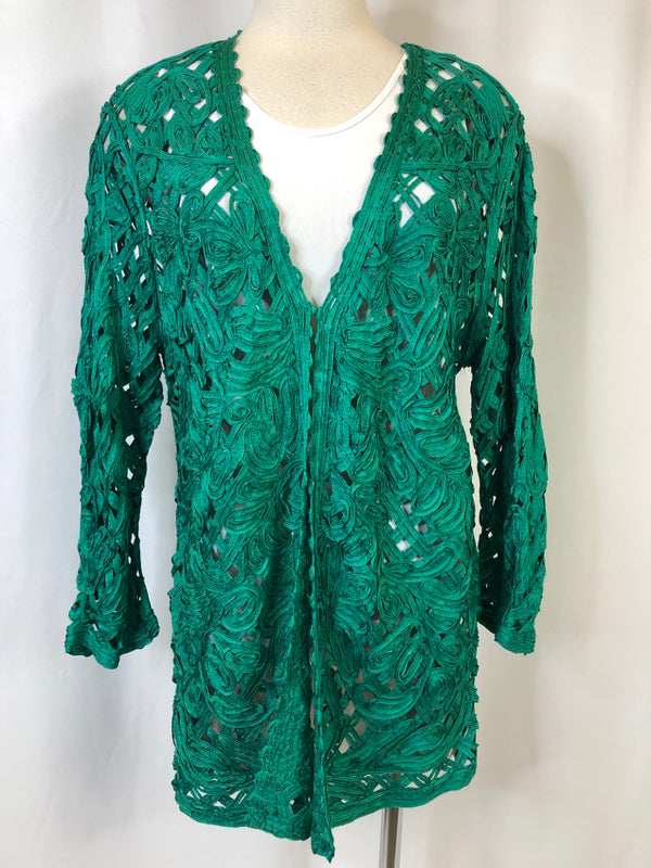 CHICO'S Women Size 12 Green Jacket