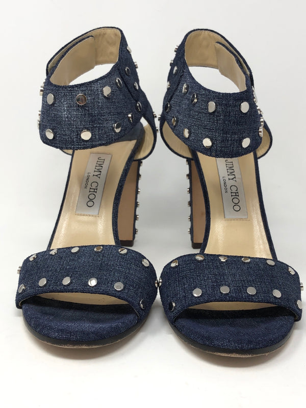 JIMMY CHOO Women Size 8.5 BLUE DENIM Sandal