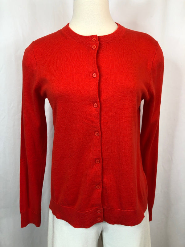 J. CREW Women Size M Orange Cardigan