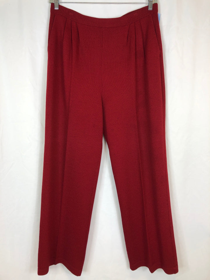 ST JOHN COLLECTION BRICK RED Women Size 14 Pants