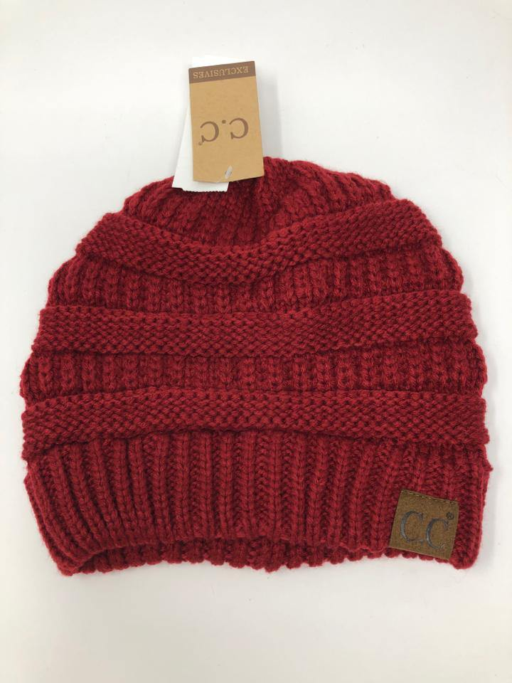 C.C EXCLUSIVES Women Size OSFA Burgundy Hat - Urban Renewal Consignment