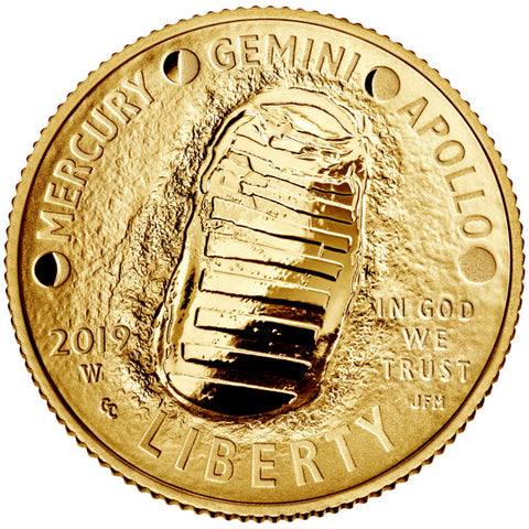 Apollo 11 50th Anniversary Commemorative 1/4oz Gold