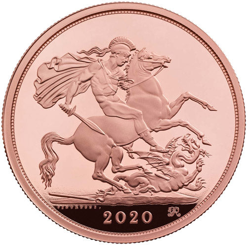 2020 Five-Sovereign Piece Brilliant Uncirculated Gold Coin