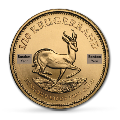 Buy 1/10 oz Krugerrand Bullion Coins at Best Prices from The Scoin Shop