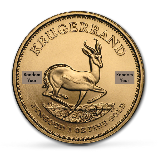 Buy 1 oz Krugerrand Bullion Coins at Best Prices from the The Scoin Shop