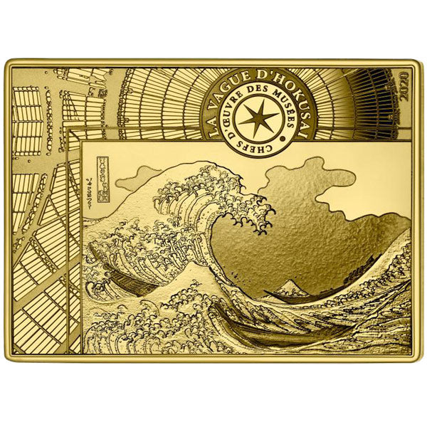 The Wave - Katsushika Hokusai - 1/4 oz Gold Proof Coin