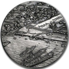 D-Day - A Snapshot In Time - 2019 Canada $250 1 Kilo Silver Antique Coin