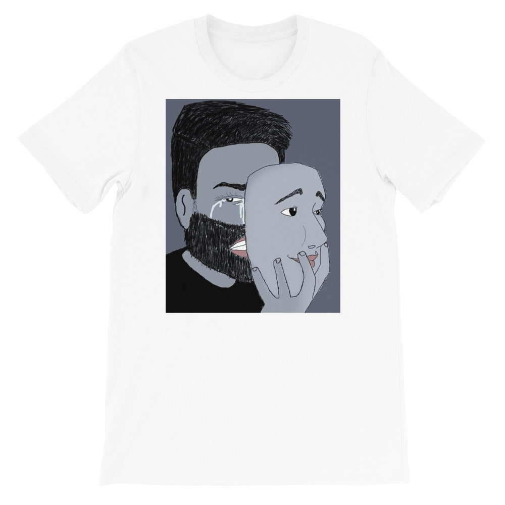 Mask of happiness Short-Sleeve Unisex T-Shirt - Aanvi's Store