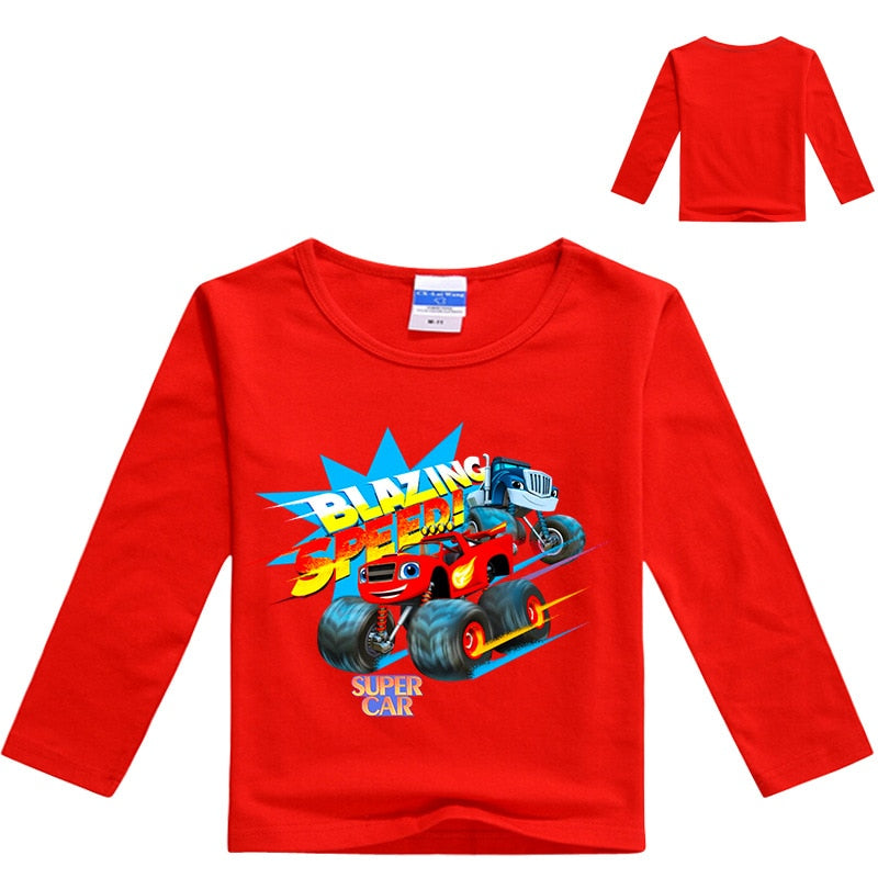 Blazing Speed Super Car Kids Full Sleeve t-shirt - Aanvi's Store