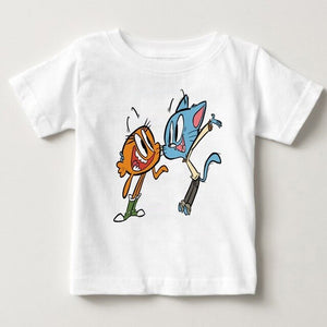 Boys Girls The Amazing World of Gumball Cartoon Character Design Funny T-Shirts - Aanvi's Store