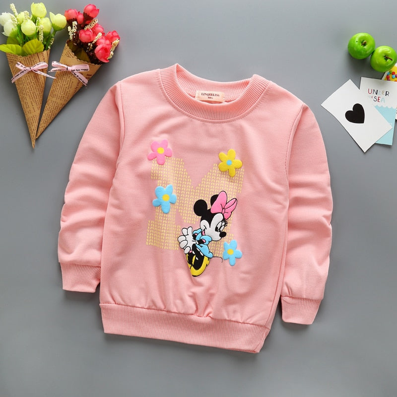 Baby Girls minnie long sleeve T-shirt - Aanvi's Store