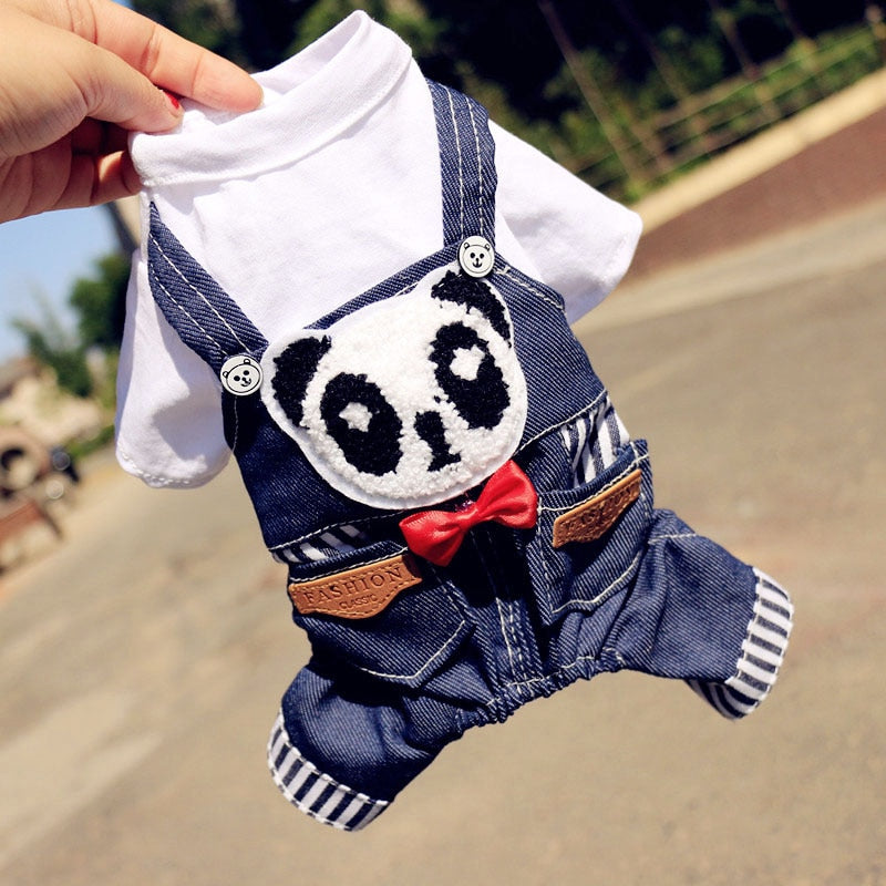 Cute Panda Dress with Red bow - Aanvi's Store