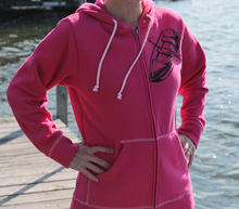 Load image into Gallery viewer, Pink rowboat hoodie