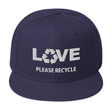 Load image into Gallery viewer, sdf77 Recycle LOVE Snapback Hat