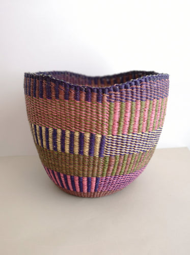 Planter Basket - Pink and Purple