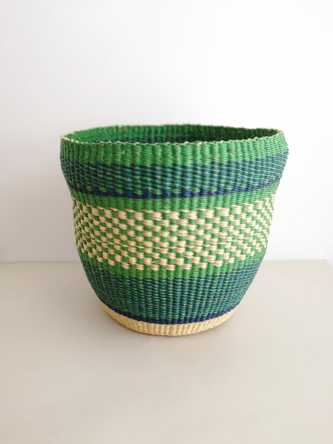 Planter Basket - Green and Blue