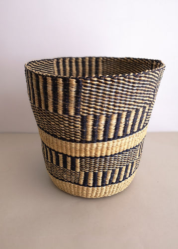 Planter Basket - Monochrome Patterned