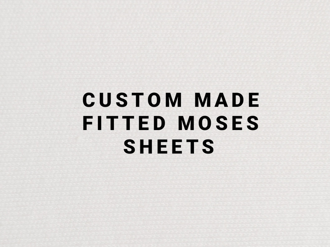 Custom Made Super Soft Fitted Moses Sheets