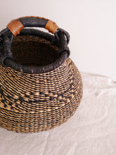 Medium Bolga Pot Basket - Black