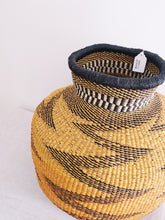 Jemima 10 Cows Artisan Bolga Basket - Orange