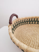 Olive Patterned Woven Baby Changing Basket