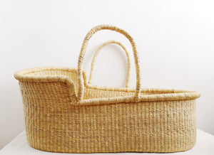 Natural Vegan Handwoven Baby Moses Basket