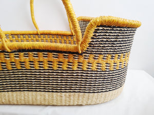 PRE ORDER ONLY Vegan Handwoven Baby Moses Basket