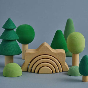 Handmade Wooden Forest Set - Colour