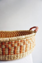Natural Patterned Woven Baby Changing Basket