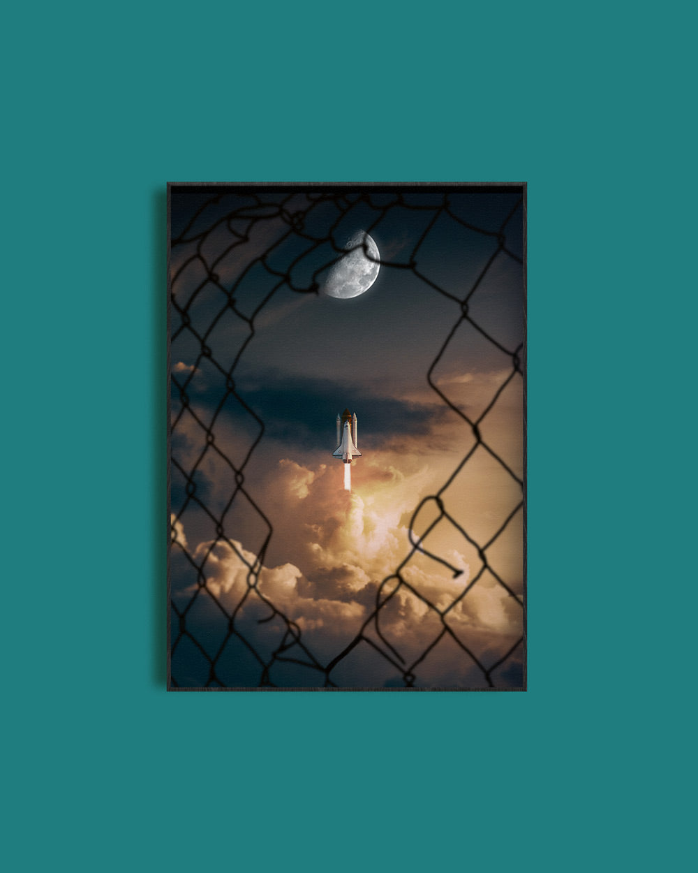 To The Moon Poster - HoodieCollab