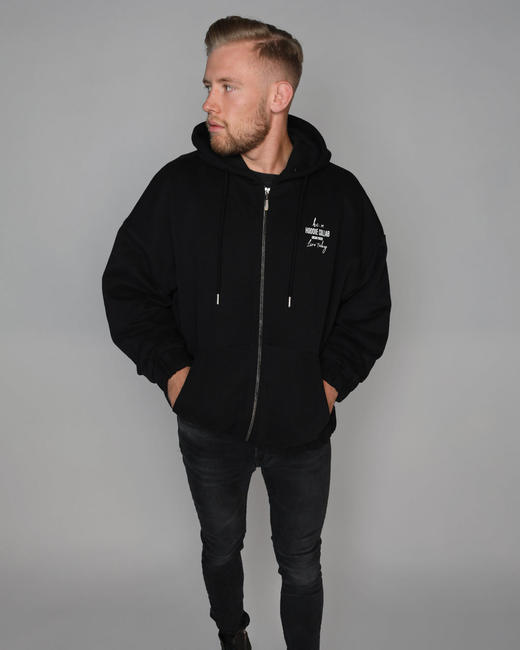 To The Moon Zip-Hoodie