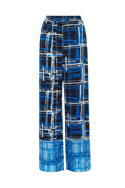 Checked Blue Pyjama Trouser
