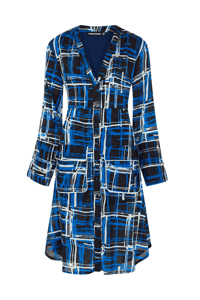 Checked Aline Shirt Dress