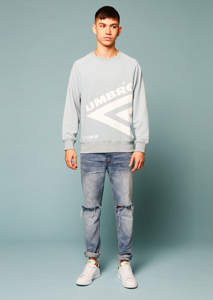 Umbro Diamond Side Rib Sweatshirt (Blue)