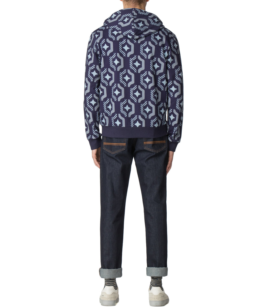 House of Holland X Ben Sherman Geo Wallpaper Printed Hoodie by House of Holland