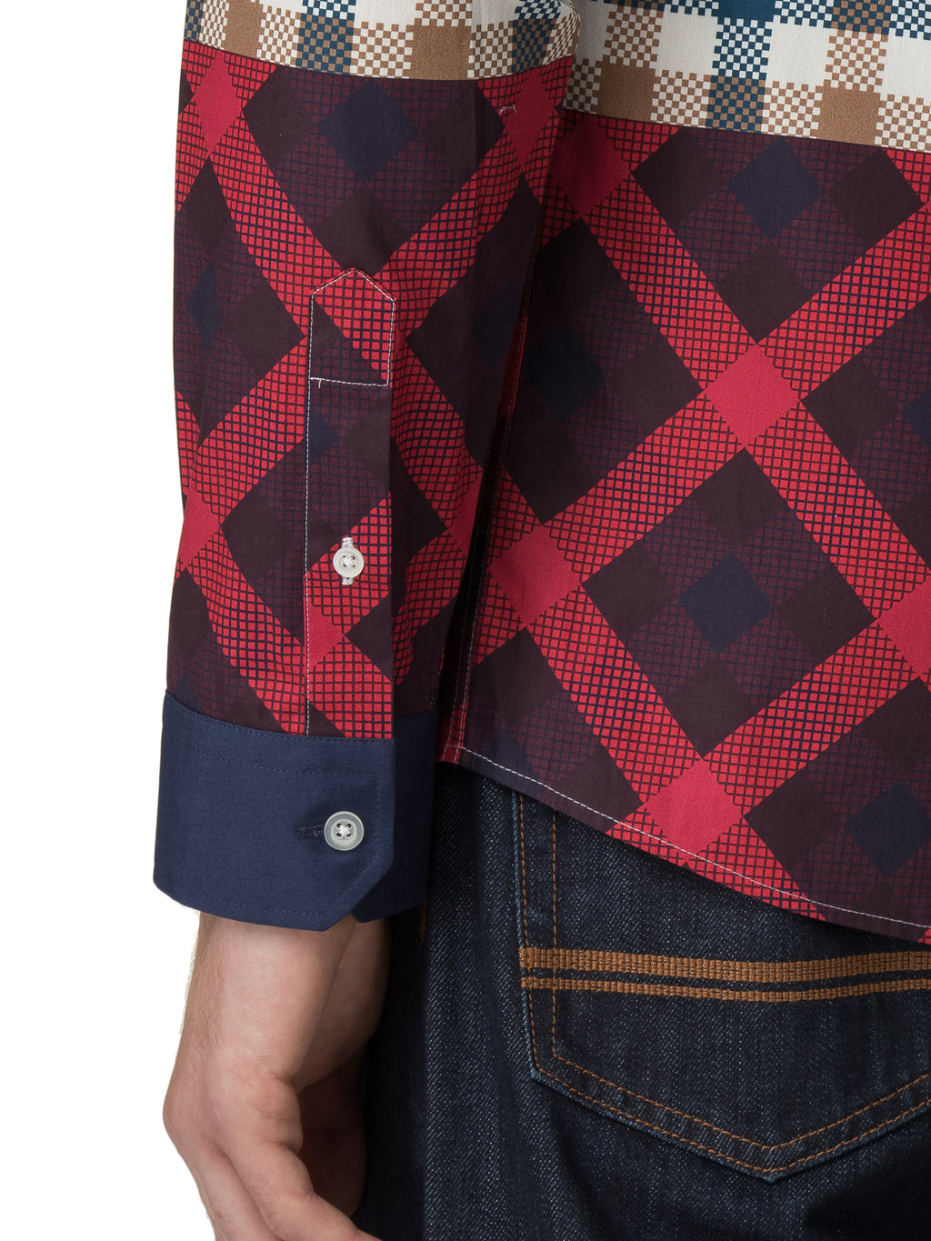 House of Holland X Ben Sherman Long Sleeve Multi Check Printed Shirt by House of Holland