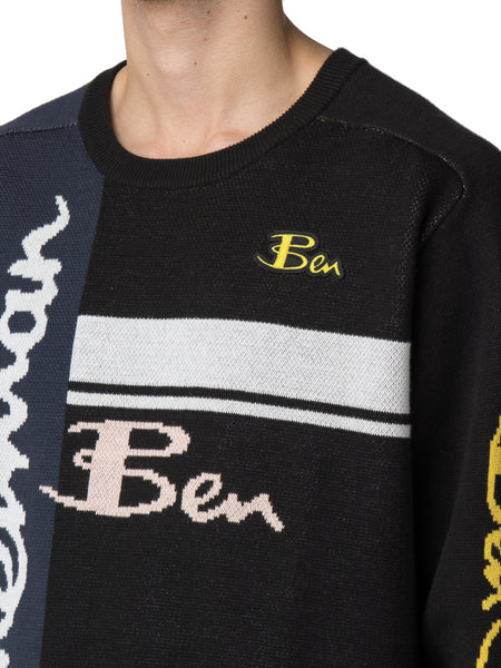 House of Holland X Ben Sherman Multi-Logo Knitted Crew Neck Jumper