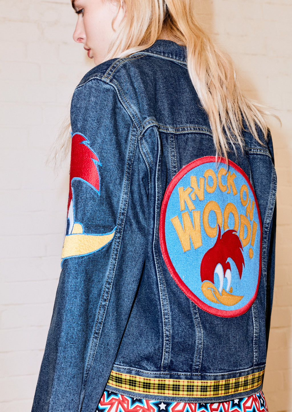 Panelled Woody Patch Denim Jacket