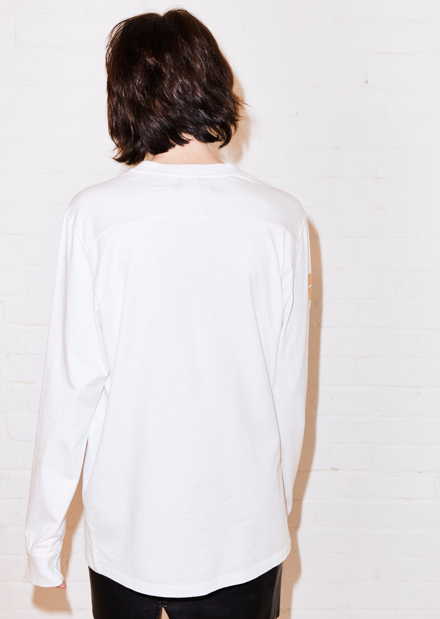 @shesvague 'Obsessed' White Long Sleeve Tee by House of Holland
