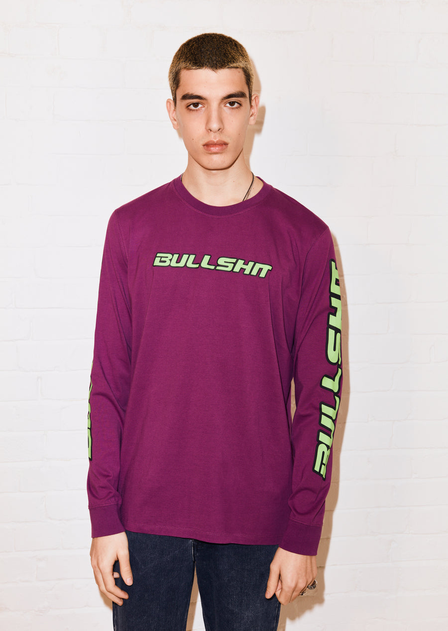 @hattiestewart 'Bullshit' Purple Long Sleeve Tee by House of Holland