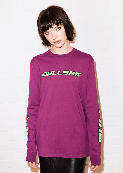 @hattiestewart 'Bullshit' long sleeve tee