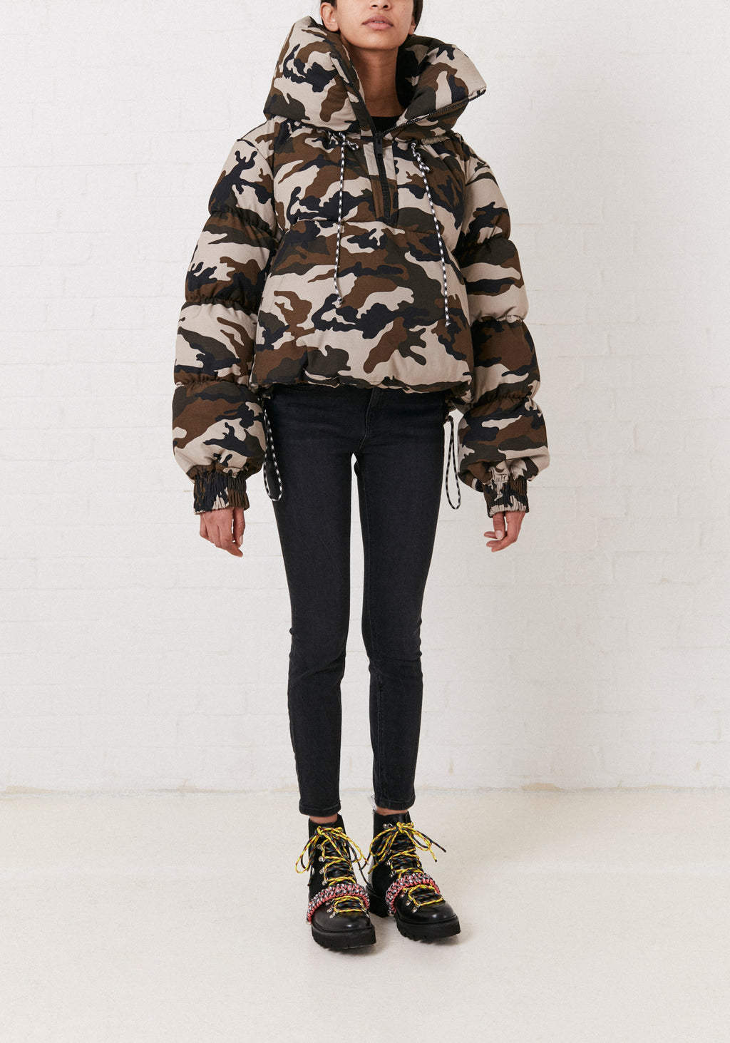 Camoflage Puffa Jacket By House of Holland