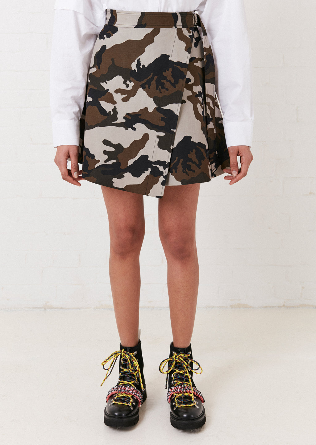 Camouflage Mini Wrap Skirt By House of Holland