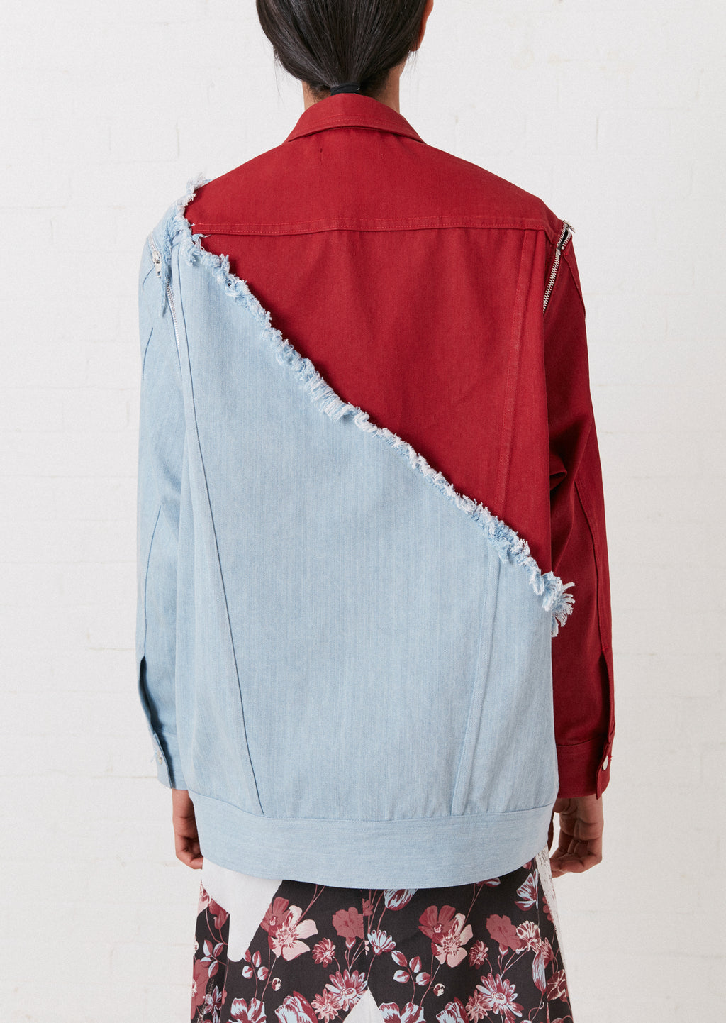 Vivid Contrast Oversized Denim Jacket By House of Holland