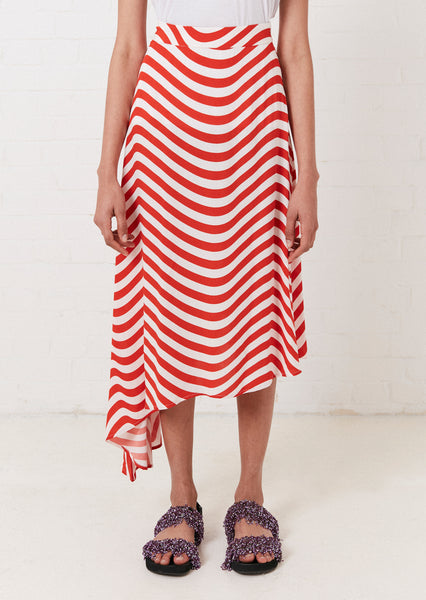 ASYMMETRIC WAVY SKIRT
