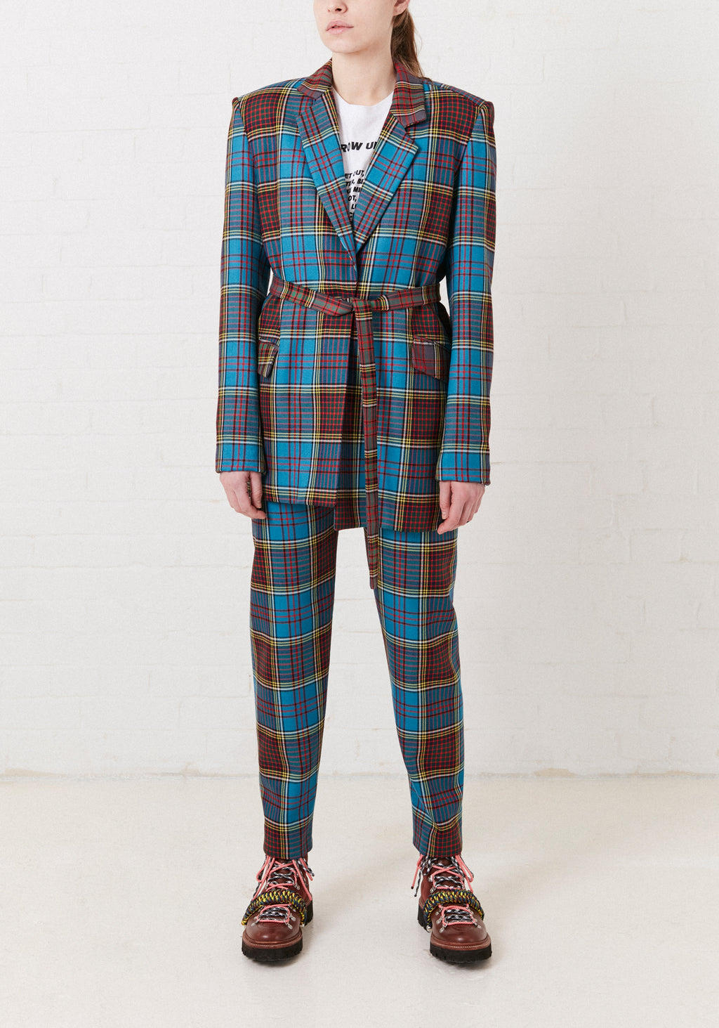 Tartan Tailored Wool Jacket by House of Holland