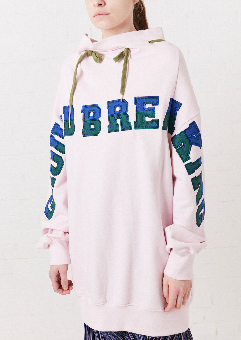 Pink 'Ground Breaking' Oversized 2-Way Sweatshirt by House of Holland