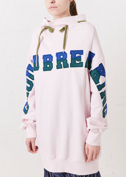 Pink 'Ground Breaking' Oversized 2-Way Sweatshirt
